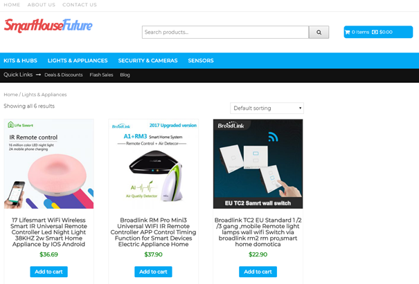Preview website product category WooCommerce
