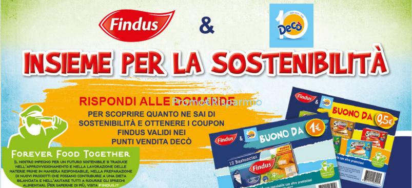 Promo risparmio buoni sconto findus con dec for Deco promo
