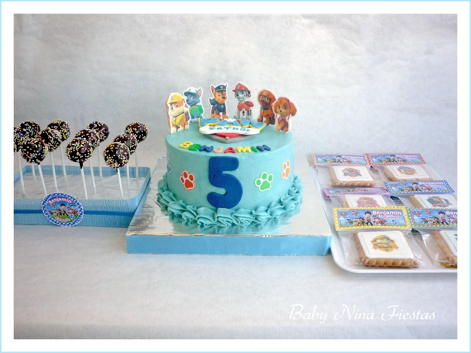 Baby nina fiestas tarta galletas y cakepops patrulla - Decoracion de cumpleanos de la patrulla canina ...