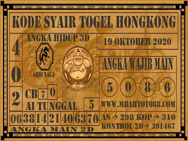Kode syair Hongkong senin 19 oktober 2020 226