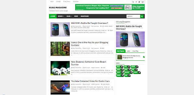Download Template Green Magazine | Hijau Magazine V1.0 Premiun