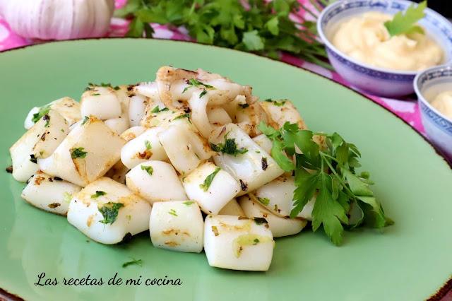 Sepia a la plancha con majao y mayonesa de ajo