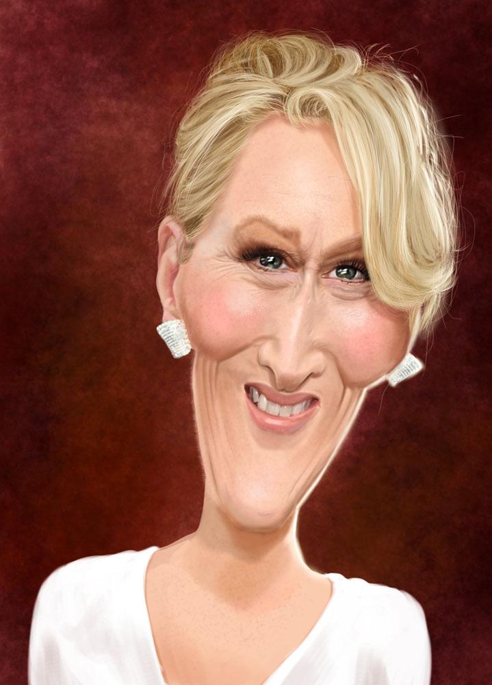 """Meryl Streep"" por Ed Van Der Linden"