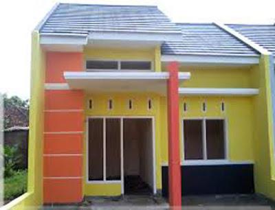 warna cat rumah minimalis tampak depan type 36