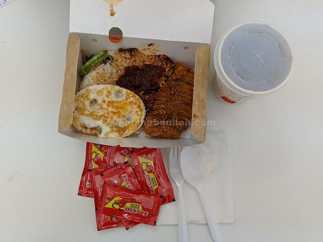 Menu Baru McDonalds Nasi Lemak Spicy Chicken McDeluxe Dan McFlurry Cendol