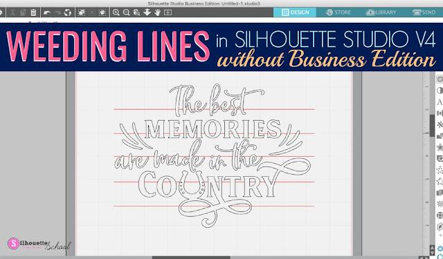 Weeding lines, Silhouette Studio, Silhouette tutorial, silhouette 101, silhouette america blog