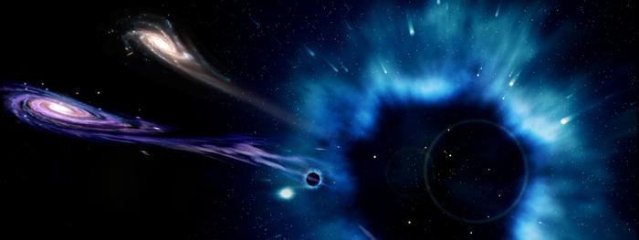 buracos negros maiores do que galáxias