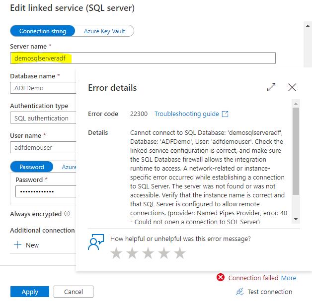Incorrect SQL Server Instance Name