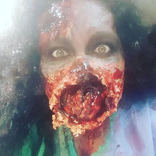 disfraz de zombie realista para halloween
