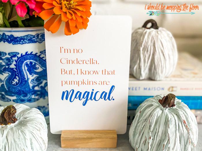 I'm no Cinderella, but I know pumpkins are magical.