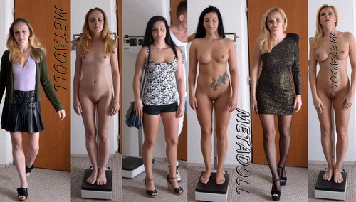 The girls on reception at the gynecologist. Gynecological exam, deep rectal exam, breast exam, cervix exam with speculum, anal probes and enema