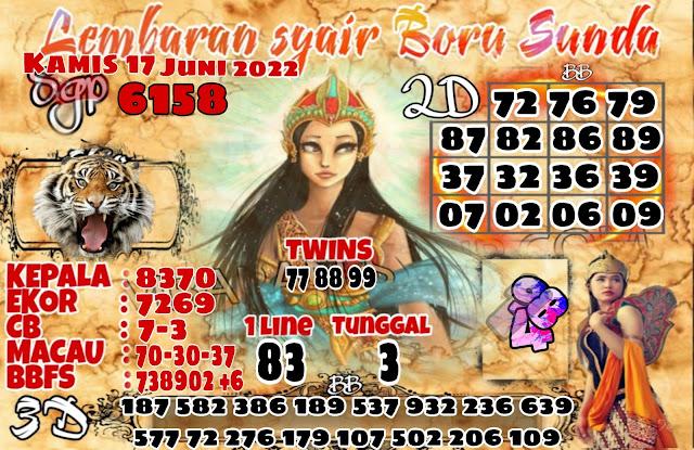 Syair SGP Boru Sunda Hari Kamis