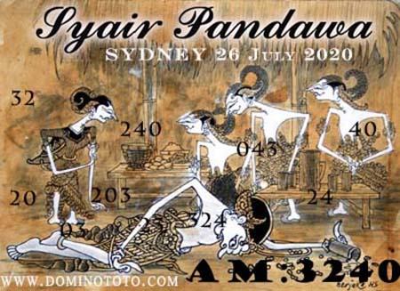 Syair Pandawa Sydney Minggu 26 Juli 2020