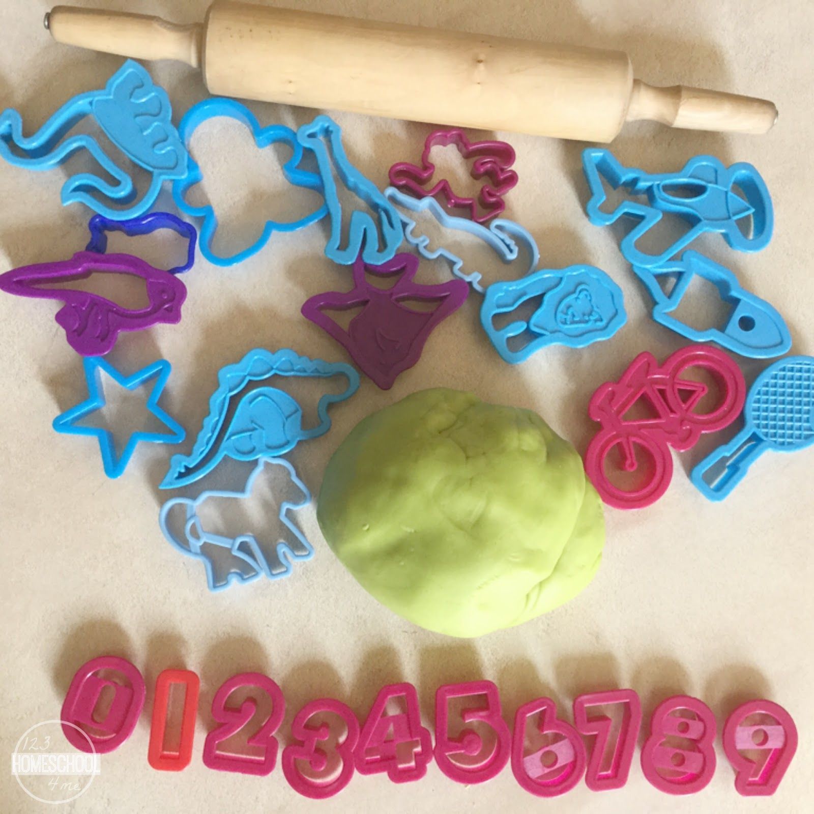 Counting With Playdough Amp Cutters
