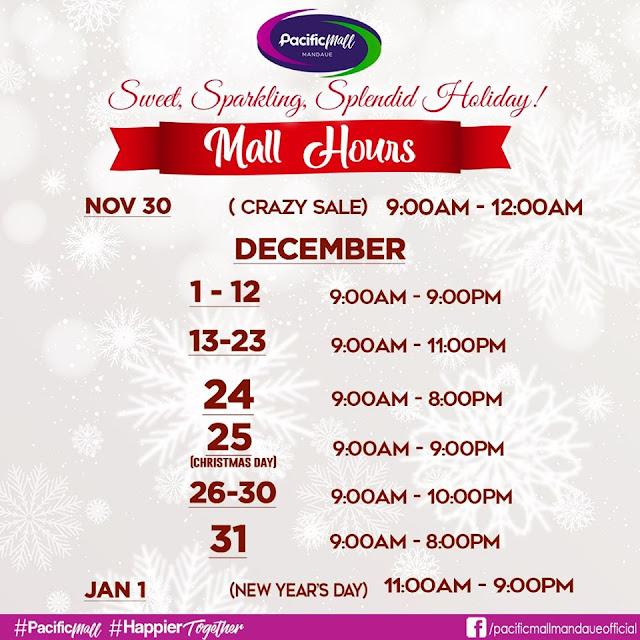 Pacific Mall Mandaue Mall Hours 2019
