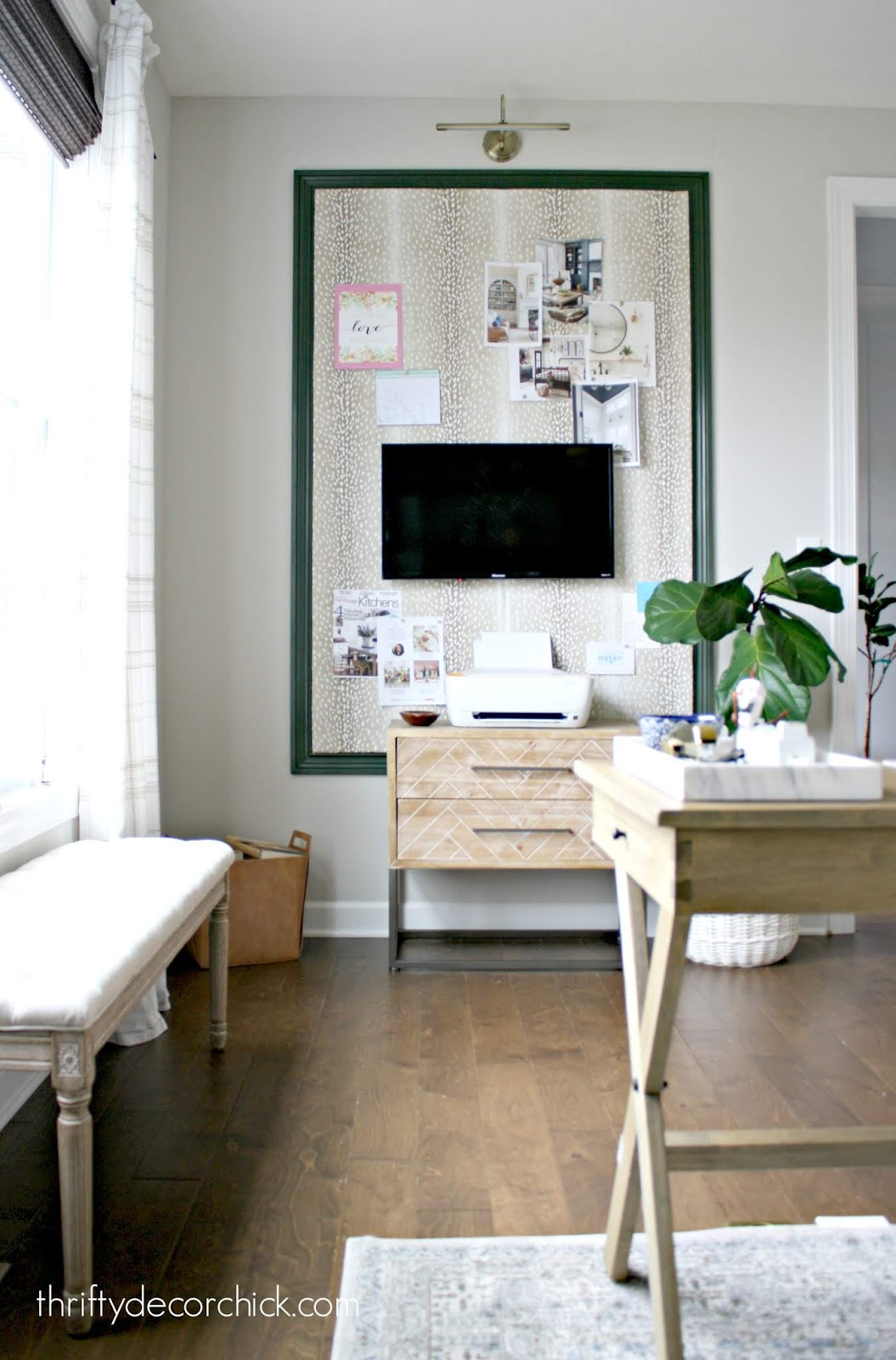 Large DIY upholstered bulletin board