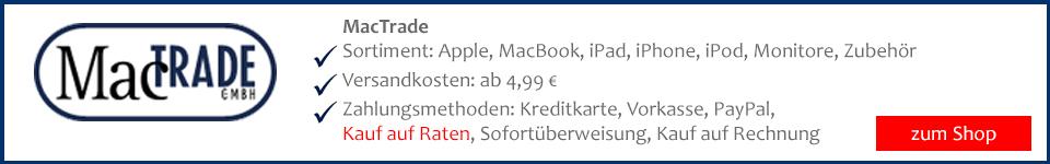 MacTrade Laptop, Notebook, Macbook auf Rechnung bestellen und sicher kaufen