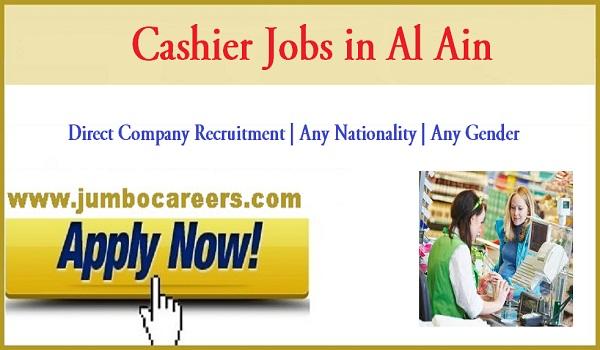Al Ain cashier jobs for Indians, Available job vacancies in Al Ain,
