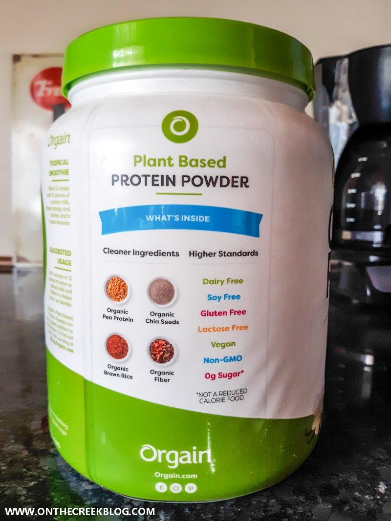 Orgain Plant Based Protein powder | On The Creek Blog // www.onthecreekblog.com