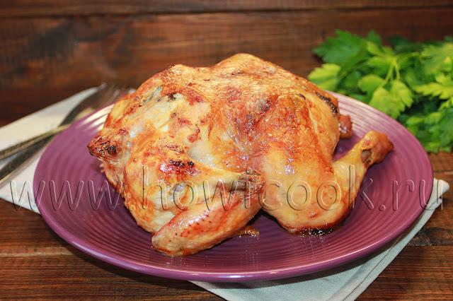рецепт курицы, запеченной с лимоном и чесноком