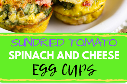 Sun Dried #Tomato, #spinach and #cheese #egg cups