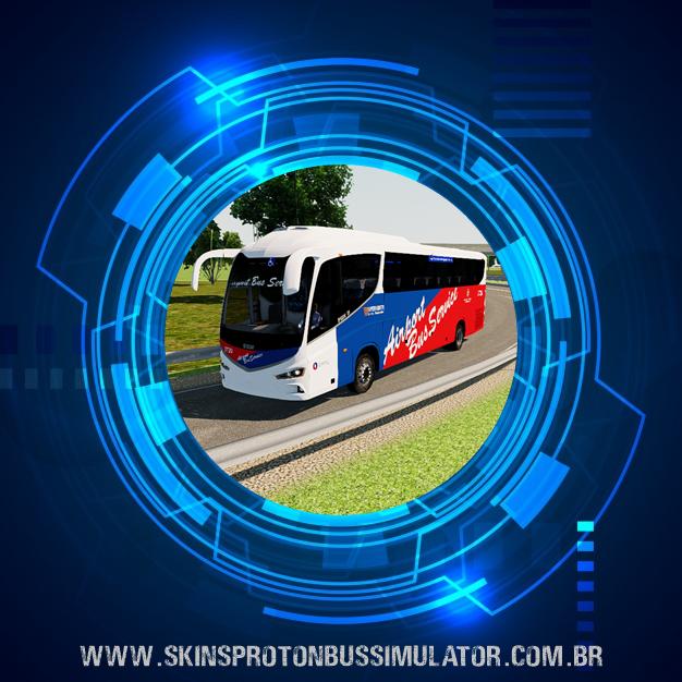 Skin Proton Bus Simulator Road - Irizar I8 Volvo B410R Airport Bus Service