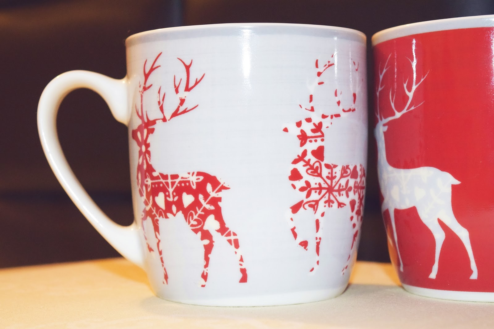 Set of 2 Reindeer Mugs