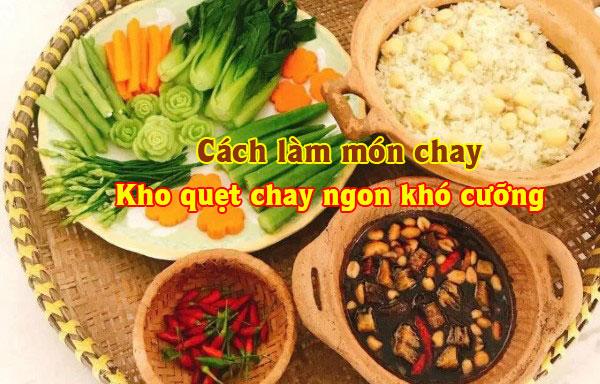 Cách làm món kho quẹt Chay ngon khó cưỡng