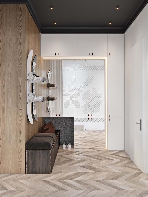 Дизайн-проекты. Роскошная квартира с контрастным интерьером