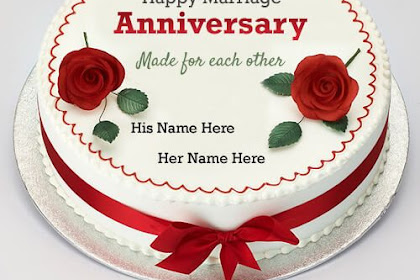 Bests Greetings Under Happy Wedding Anniversary Image With Name Edit