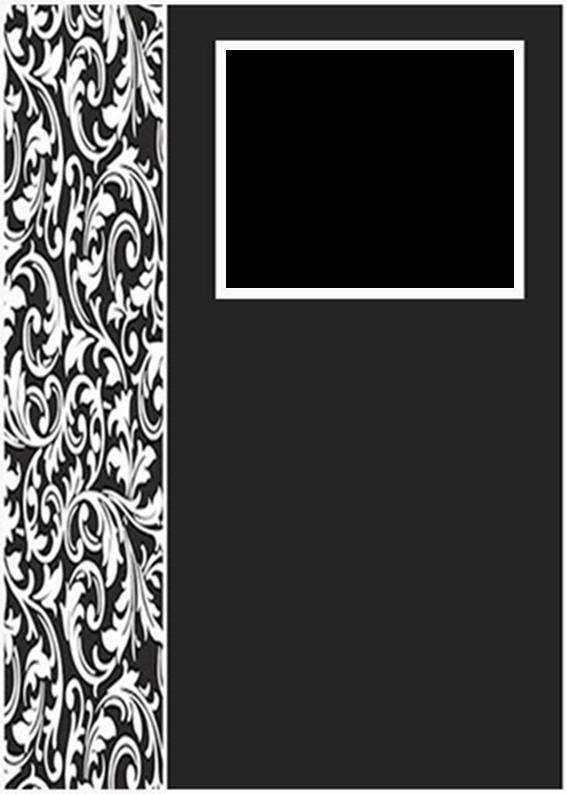 White and Black: Free Printable Photoalbum.