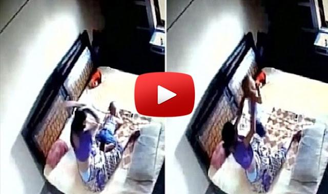 ΒΙΝΤΕΟ-ΣΟΚ! Μάνα χτυπάει αλύπητα τον γιο της - Ο πατέρας την βιντεοσκόπησε κρυφά