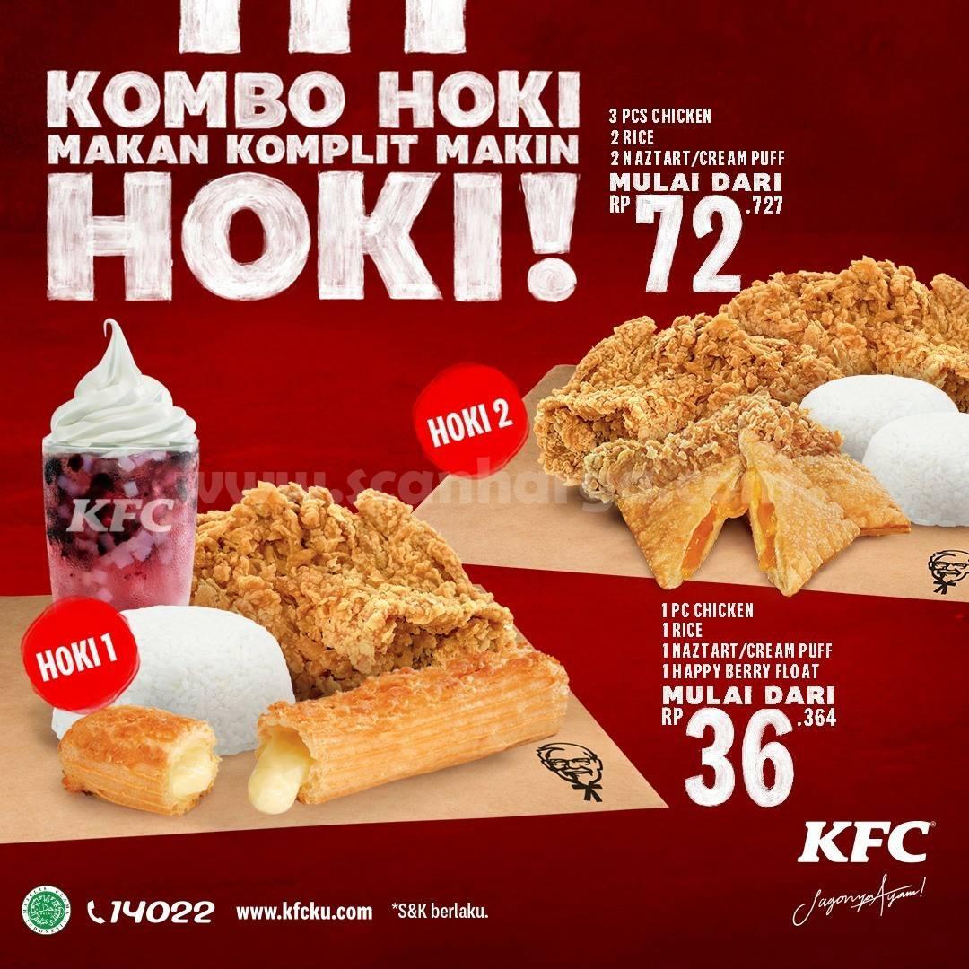 Promo KFC Paket KOMBO HOKI - Harga mulai Rp.36.364