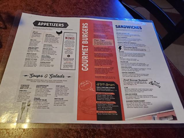 Bummies Pub & Grill Menu