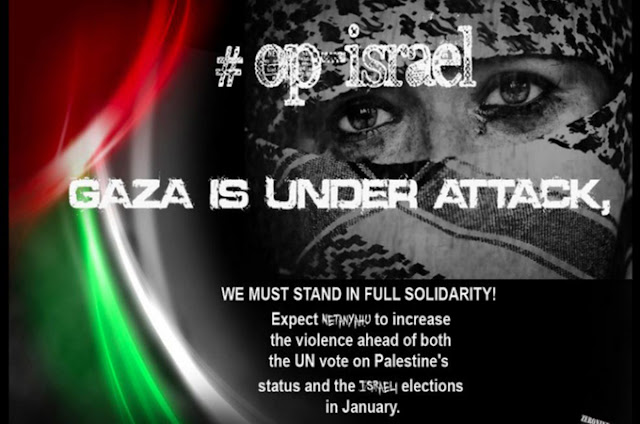 #opIsrael - Hackers hit Israel with mass Cyber Attack over Gaza