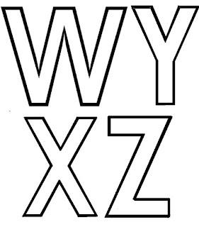 Moldes das letras do alfabeto