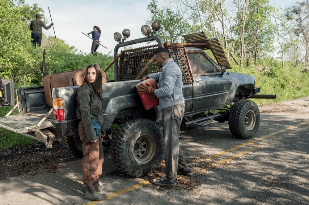 Charlie, victor, Morgan y Alicia en el episodios 5x09 de Fear The Walking Dead