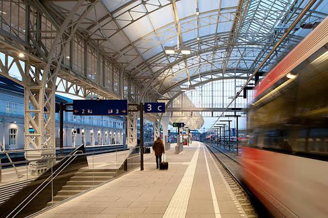 Estação de trem em Salzburgo