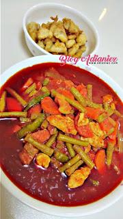 Paprik Campur - daging dan ayam
