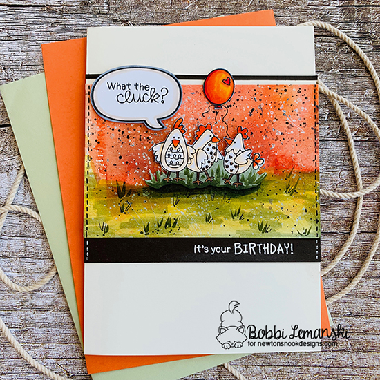 What the cluck? by Bobbi features Cluck, Delightful Doxies, and Speech Bubbles by Newton's Nook Designs; #newtonsnook