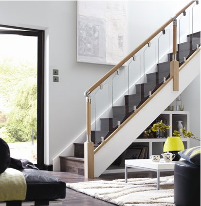 Open Plan Staircase In Living Room Modern Curtains Pictures Home Decor Diy Furnishings Interior Design And Furniture Making A Stairs Enter Into The Space Of Your Designs Like These Are Built With Light Mind You Play On This Through Use Glass
