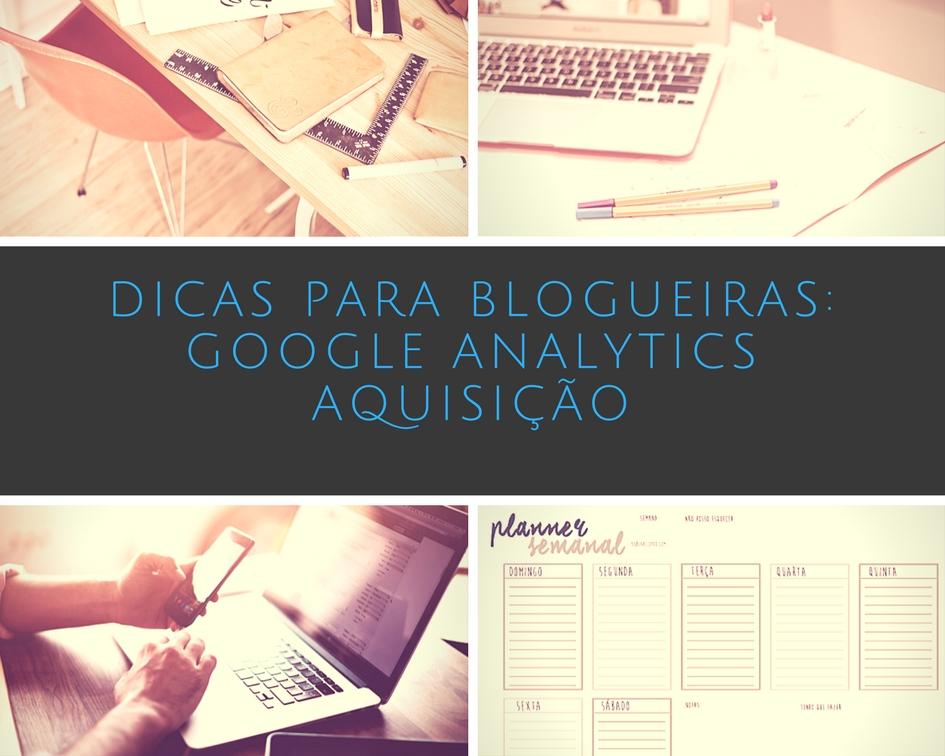 Google Analytics Tabela de Aquisição