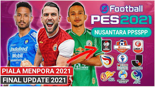 Download eFootball PES Nusantara PPSSPP Fix Camera PS5 Final Update Piala Menpora & Shopee Liga 1 2021