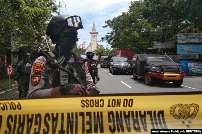 14 Orang Terluka Dalam Ledakan Bom di Makassar, Polisi Duga Pelaku Dua Orang