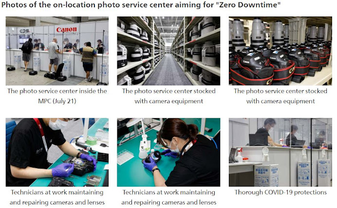 """Canon to support news media at Tokyo 2020 Games, releases photos of on-location service center aiming for """"Zero Downtime"""""""