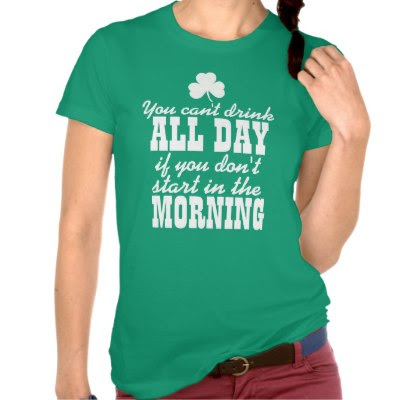 You can't drink ALL DAY.. - Funny St. Pattys Day Tee