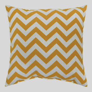 Greendale Home Fashions Indoor/Outdoor Accent Pillows, Yellow Zig Zag, Set of 2