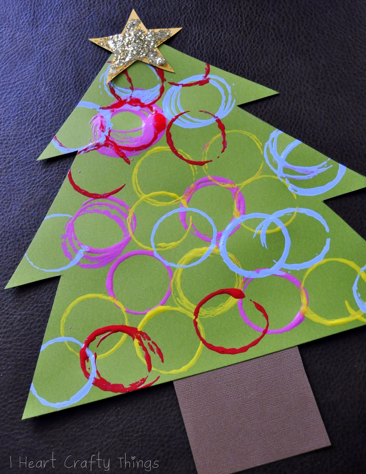 Iheart Christmas.Ornament Stamped Christmas Tree Craft