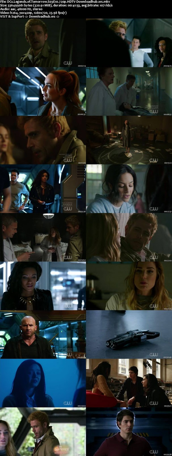DCs Legends of Tomorrow S03E10 320MB HDTV 720p x264