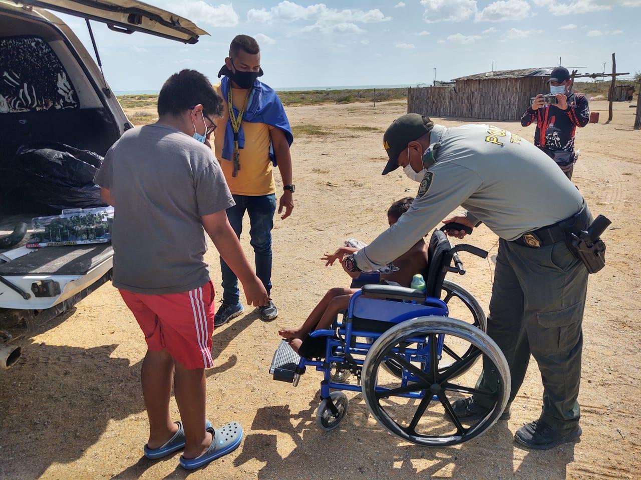https://www.notasrosas.com/ 'Rueda por un Corazón': campaña realizada por el Grupo de Protección al Turismo, en El Cabo De La Vela